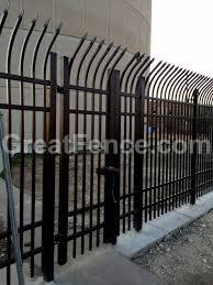 corrugated metal fence panels. Great Industrial Black Curved Picket Fence Gates Aluminum Panels Metal In Diy Steel Corrugated N