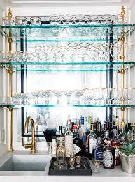 wet bar glass shelves design ideas pertaining to for 3