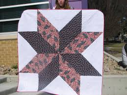 giant vintage star quilt tutorial | Sew Fun With Jules! & My helper is new to holding up quilts and was probably embarrassed, since I  enlisted her help at school as it was getting out and everyone could see  her. Adamdwight.com