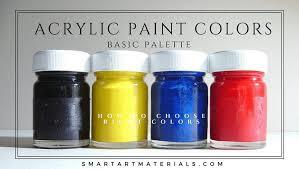 acrylic paint colors basic palette