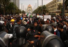 Johnny Hazard Mexico City Rocked by Massive Teacher Protest.