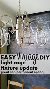 painting light fixtures. Non-Permanent Ways To Update A Light Fixture With Plastic Cages And Edison Bulbs. Painting Fixtures