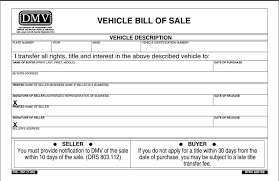 Free Downloadable Bill Of Sale Auto Blank Copy Of Bill Sale Free Form For Automobile Sales Template Bil