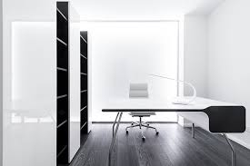 white office design. Apartment Modern Minimalist Desk White Office Design