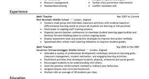 Resume Teacher Resume Template Astonishing Basic Teacher Resume