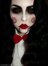 if you love the saw horror franchise you should dress up as jigsaw pleting