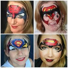 Face Painting Superheroes Design Marvel Mash Up Superhero Face Painting Face Painting