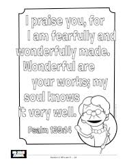 My Jesus Journal Psalm 139 Coloring Page Whats In The Bible