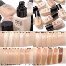swatches of the new makeup forever water blend face and body foundation lightweight formula