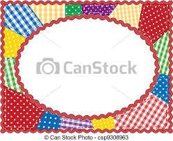 Patchwork quilt frame. Gingham and polka dot quilted... vectors ... & Patchwork Quilt Frame - csp9308963 Adamdwight.com