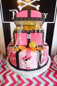 My Daughters Pirate Themed Treasure Chest Birthday Party Cake By