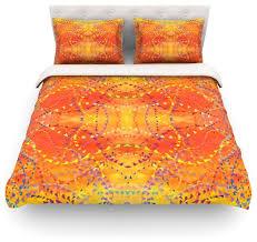 nikposium sunrise orange gold cotton duvet cover twin 68 x88