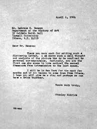 cinephilia and filmmaking stanley kubrick wrote this response go to linkpop upview separately stanley kubrick wrote this response letter