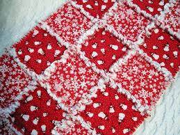 Red and White Snowflake and Snowman Rag Quilt Table Runner ... & Red and White Snowflake Quilt   Red and White Snowflake and Snowman Rag  Quilt Table Runner Adamdwight.com