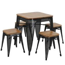 modern industrial furniture. modern industrial furniture square tolix table and chair set fs513