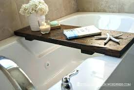 bathtub bathroom agreeable bath tub tray interior with wooden caddy the block large size of