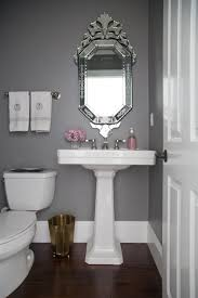Powder Room Powder Room Makeover Pedastal Sink Beautiful Mirrors And Powder