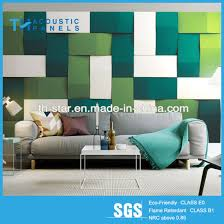 hot polyester fiber decorative acoustic wall panel