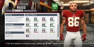 Madden 19 Washington Redskins Player Ratings Roster Depth