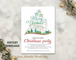 Downloadable Christmas Party Invitations Templates Free Extraordinary Christmas Party Invitation Template Printable Christmas Tree