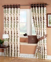 ariel green brown ready made eyelet curtain