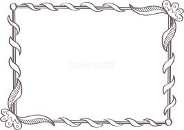 手書きフラワー枠 フレンチおしゃれ無料フレーム枠イラスト81655 素材good