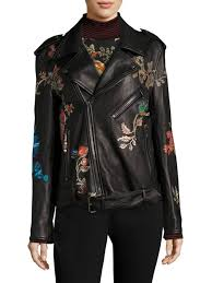 etro embroidered leather jacket black women s jackets vests faux