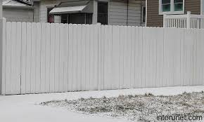 Simple white wood fence picture interunet