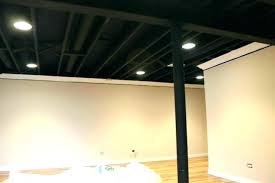 painted basement ceiling. Terrific How To Paint Basement Ceiling Painted Black . U
