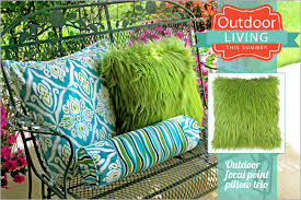 Outdoor Pillow Trio Outdoor Living with Fabric