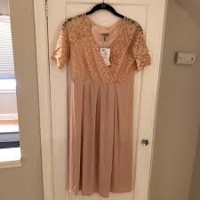 Maternity Nwt Blush Pink Lace Dress Nwt