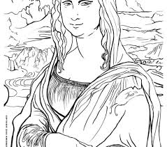 Small Picture Mona Lisa Coloring Page Best Coloring Pages adresebitkiselcom