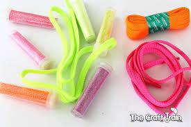 fluro glitter and shoe laces
