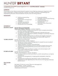 Hr Resume Template Templates For Human Resources Impression Hr ...