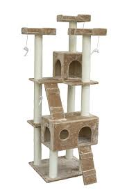 pawhut inch cat tree furniture pet tower house with scratch