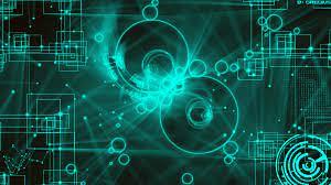 Green Abstract Geometric Wallpaper Hd ...