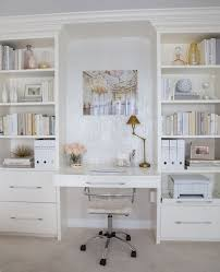 neutral home office ideas. Home Decorating Ideas - Office In Chic Glam Style. Built-in Desk And Neutral T