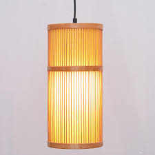 south asian bamboo cylinder dining room ceiling pendant lamp japanese restaurant pendant lights country rustic hanging lamps pendant lamp shade pendant