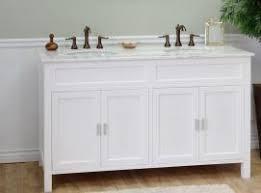 two sink vanity. 60 Inch Double Sink Bathroom Vanity In White Two L