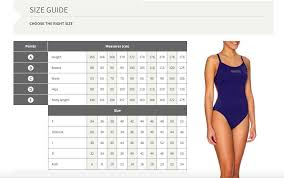 Arena Swim Size Chart 65 Exact Arena Swimsuit Size Chart