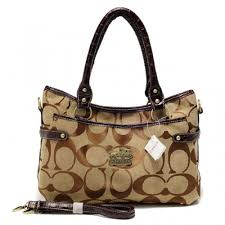 Coach Logo Monogram Small Coffee Satchels BKW