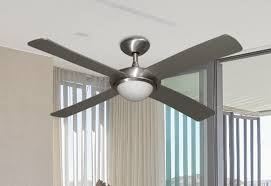 picture of 52 luna indoor outdoor ceiling fan and light in brushed aluminum with remote