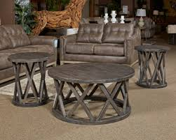 ashley sharzane 3pc round coffee table