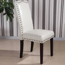 grey faux dining chairs. castillian collection faux leather nailhead trim parson chair (set of grey dining chairs