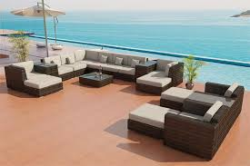 traditional outdoor furniture sectional sofa on patio set 25