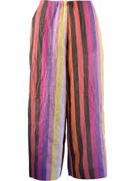 Alembika Size Chart Details About Alembika Cotton Linen Blend Striped Crop Pant Bubblegum Orange Multi 2 3 216