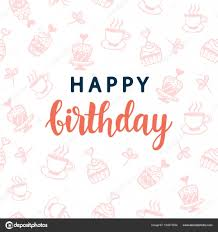 birthday postcard template happy birthday greeting card template stock vector artrise