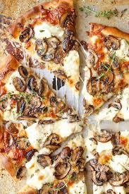 white mushroom pizza delicious