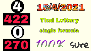 16-4-2021   Thai Lottery single 0 ➡ 270 pass non miss formula from 994    Thai Lottery result today - YouTube