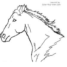 Small Picture Coloring Book Horse Head Coloring Pages